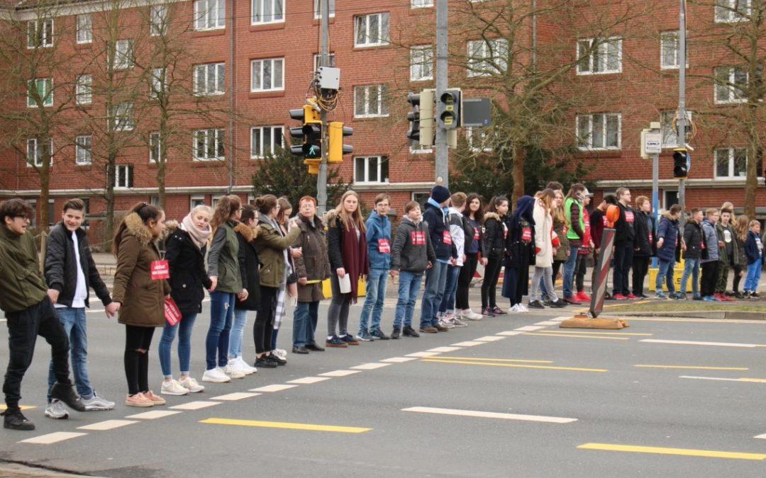 Menschenkette am Mi.14.3.2018