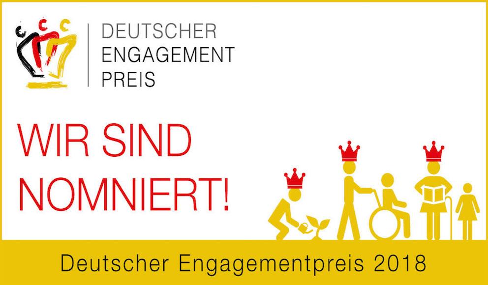 """Nominierung des Songs """"Hand in Hand"""" für den deutschen Engagementpreis"""