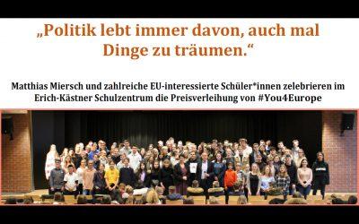 """Abschlussveranstaltung des """"#You4Europe"""" Projektes in der EKS am 5.2.2019"""